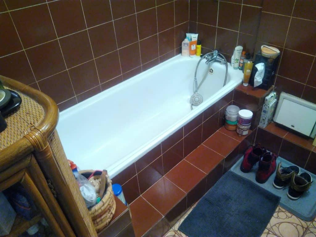 remont małej łazienki w bloku w Warszawie zdjęcie przed wykonaniem